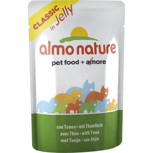 Паучи Almo Nature Classic in Jelly Adult Cat with Tuna с тунцом в желе для кошек 55г (4750)