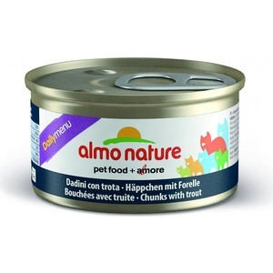 Консервы Almo Nature Daily Menu Adult Cat Chunks with Trout кусочки с форелью для кошек 85г (5009) almo nature almo nature daily menu adult cat veal
