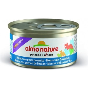 Консервы Almo Nature Daily Menu Adult Cat Mousse with Oceanic fish нежный мусс с океанической рыбой для кошек 85г (5016) almo nature almo nature daily menu adult cat veal