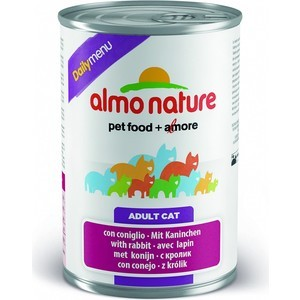 Консервы Almo Nature Daily Menu Adult Cat with Rabbit с кроликом для кошек 400г (5047)