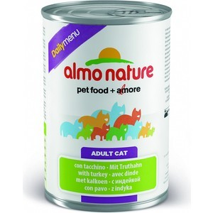 Консервы Almo Nature Daily Menu Adult Cat with Turkey с индейкой для кошек 400г (5061) almo nature almo nature daily menu adult cat veal