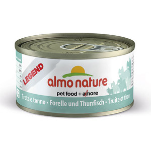 Консервы Almo Nature Legend Adult Cat with Trout and Tuna с форелью и тунцом для кошек 70г (0066) паучи almo nature classic in jelly adult cat with tuna and sole fish с тунцом и камбалой в желе для кошек 70г 1117