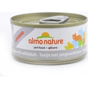 Консервы Almo Nature Legend Adult Cat with Tuna and White Bait с тунцом и сардинками для кошек 70г (1419) паучи almo nature classic in jelly adult cat with tuna and sole fish с тунцом и камбалой в желе для кошек 70г 1117