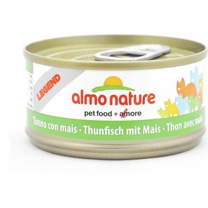 Консервы Almo Nature Legend Adult Cat with Tuna and Sweet Corn с тунцом и сладкой кукурузой для кошек 70г (2567) паучи almo nature classic in jelly adult cat with tuna and sole fish с тунцом и камбалой в желе для кошек 70г 1117