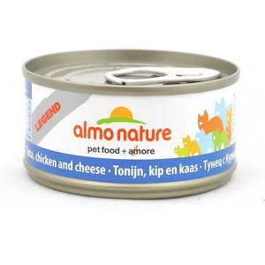 Консервы Almo Nature Legend Adult Cat with Tuna, Chicken and Cheese с тунцом, курицей и сыром для кошек 70г (1358) friskies naturals party mix variety pack chicken tuna and salmon 9 pack
