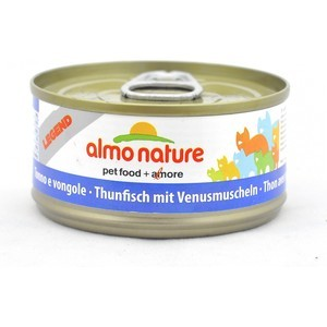 Консервы Almo Nature Legend Adult Cat with Tuna and Clams с тунцом и моллюсками для кошек 70г (0929) almo nature almo nature legend adult cat tuna
