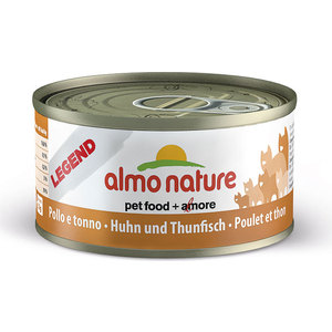 Консервы Almo Nature Legend Adult Cat with Chicken and Tuna с курицей и тунцом для кошек 70г (4144) паучи almo nature classic in jelly adult cat with tuna and sole fish с тунцом и камбалой в желе для кошек 70г 1117
