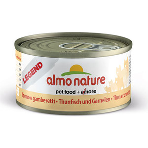Консервы Almo Nature Legend Adult Cat with Tuna and Shrimps с тунцом и креветками для кошек 70г (4120) паучи almo nature classic in jelly adult cat with tuna and sole fish с тунцом и камбалой в желе для кошек 70г 1117