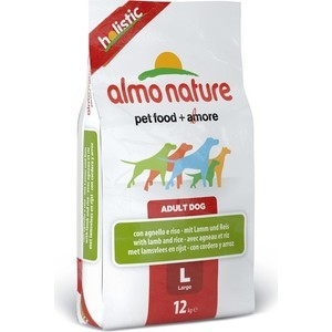 Сухой корм Almo Nature Holistic Adult Dog Large with Lamb and Rice с ягненком и рисом для взрослых собак крупных пород 12кг (2251) new 1685pcs lepin 05036 1685pcs star series tie building fighter educational blocks bricks toys compatible with 75095 wars