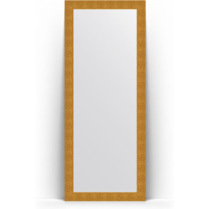 Зеркало напольное Evoform Definite Floor 81x201 см, в багетной раме - чеканка золотая 90 мм (BY 6008)