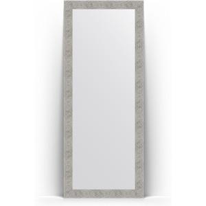 Зеркало напольное Evoform Definite Floor 81x201 см, в багетной раме - волна хром 90 мм (BY 6011) зеркало напольное поворотное evoform definite floor 111x201 см в багетной раме волна хром 90 мм by 6023