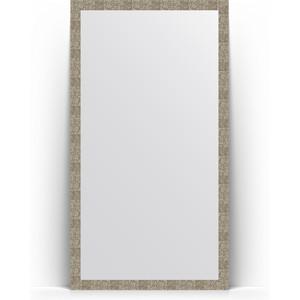Зеркало напольное Evoform Definite Floor 108x197 см, в багетной раме - соты титан 70 мм (BY 6018)