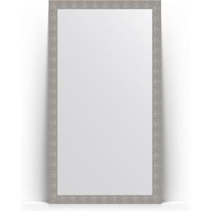 Зеркало напольное Evoform Definite Floor 111x201 см, в багетной раме - чеканка серебряная 90 мм (BY 6021) зеркало напольное поворотное evoform definite floor 111x201 см в багетной раме волна хром 90 мм by 6023