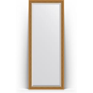 Зеркало напольное с фацетом Evoform Exclusive Floor 78x198 см, в багетной раме - состаренное золото с плетением 70 мм (BY 6101)