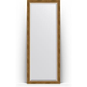 Зеркало напольное с фацетом поворотное Evoform Exclusive Floor 78x198 см, в багетной раме - состаренная бронза с плетением 70 мм (BY 6103) цены
