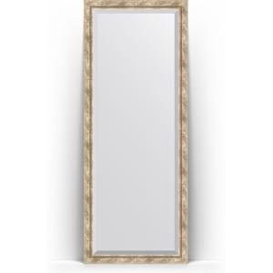 Зеркало напольное с фацетом Evoform Exclusive Floor 78x198 см, в багетной раме - прованс плетением 70 мм (BY 6104)