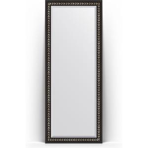 Зеркало напольное с фацетом Evoform Exclusive Floor 80x199 см, в багетной раме - черный ардеко 81 мм (BY 6108) косметика ардеко