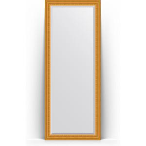 Зеркало напольное с фацетом Evoform Exclusive Floor 80x199 см, в багетной раме - сусальное золото 80 мм (BY 6109)