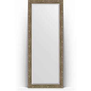 Зеркало напольное с фацетом Evoform Exclusive Floor 80x200 см, в багетной раме - виньетка античная латунь 85 мм (BY 6115) зеркало evoform exclusive g floor 200х80 виньетка античная латунь