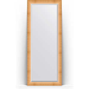 Зеркало напольное с фацетом Evoform Exclusive Floor 81x201 см, в багетной раме - травленое золото 87 мм (BY 6116) зеркало с фацетом в багетной раме evoform exclusive 46x56 см травленое золото 87 мм by 1363