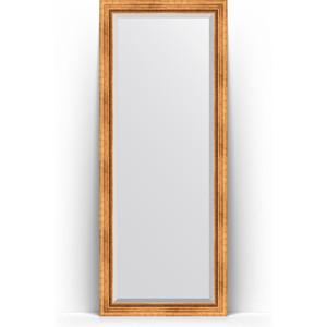 Зеркало напольное с фацетом Evoform Exclusive Floor 81x201 см, в багетной раме - римское золото 88 мм (BY 6117) зеркало напольное с фацетом поворотное evoform exclusive floor 81x201 см в багетной раме римское серебро 88 мм by 6118