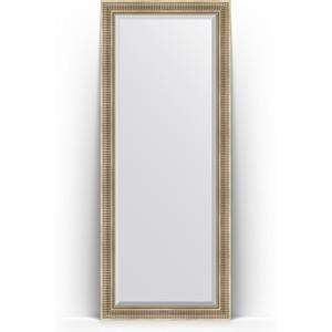 Зеркало напольное с фацетом Evoform Exclusive Floor 82x202 см, в багетной раме - серебряный акведук 93 мм (BY 6121)