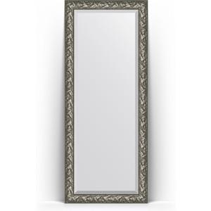 Зеркало напольное с фацетом Evoform Exclusive Floor 84x203 см, в багетной раме - византия серебро 99 мм (BY 6125)