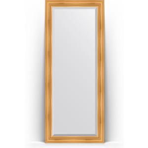 Зеркало напольное с фацетом Evoform Exclusive Floor 84x204 см, в багетной раме - травленое золото 99 мм (BY 6127)