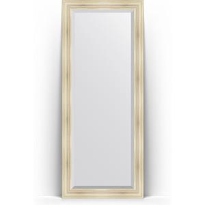 Зеркало напольное с фацетом Evoform Exclusive Floor 84x204 см, в багетной раме - травленое серебро 99 мм (BY 6128)
