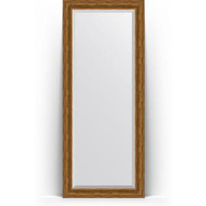 Зеркало напольное с фацетом Evoform Exclusive Floor 84x204 см, в багетной раме - травленая бронза 99 мм (BY 6129) фото