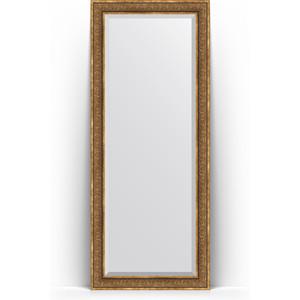 Зеркало напольное с фацетом поворотное Evoform Exclusive Floor 84x204 см, в багетной раме - вензель бронзовый 101 мм (BY 6131)