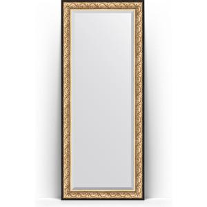 Зеркало напольное с фацетом Evoform Exclusive Floor 85x205 см, в багетной раме - барокко золото 106 мм (BY 6133) зеркало с фацетом в багетной раме поворотное evoform exclusive 80x170 см барокко золото 106 мм by 1311