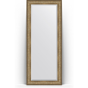Зеркало напольное с фацетом Evoform Exclusive Floor 85x205 см, в багетной раме - виньетка античная бронза 109 мм (BY 6135)