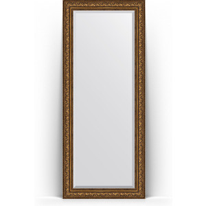 Зеркало напольное с фацетом Evoform Exclusive Floor 85x205 см, в багетной раме - виньетка состаренная бронза 109 мм (BY 6137)