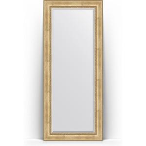 Зеркало напольное с фацетом Evoform Exclusive Floor 87x207 см, в багетной раме - состаренное серебро с орнаментом 120 мм (BY 6138) зеркало evoform exclusive g floor 207х87 состаренное серебро с орнаментом