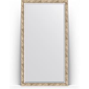 Зеркало напольное с фацетом Evoform Exclusive Floor 108x198 см, в багетной раме - прованс плетением 70 мм (BY 6144)