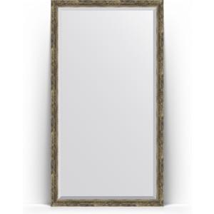 Зеркало напольное с фацетом Evoform Exclusive Floor 108x198 см, в багетной раме - старое дерево плетением 70 мм (BY 6145)