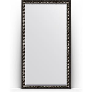 Зеркало напольное с фацетом Evoform Exclusive Floor 110x199 см, в багетной раме - черный ардеко 81 мм (BY 6148) косметика ардеко