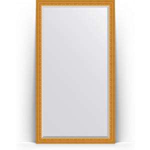 Зеркало напольное с фацетом Evoform Exclusive Floor 110x199 см, в багетной раме - сусальное золото 80 мм (BY 6149)