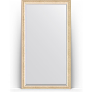 Зеркало напольное с фацетом Evoform Exclusive Floor 110x200 см, в багетной раме - старый гипс 82 мм (BY 6150) зеркало evoform exclusive g floor 200х110 старый гипс