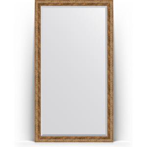 Зеркало напольное с фацетом Evoform Exclusive Floor 110x200 см, в багетной раме - виньетка античная бронза 85 мм (BY 6154) зеркало evoform exclusive g 185х130 виньетка античная латунь