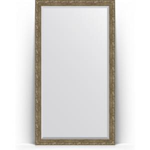 Зеркало напольное с фацетом Evoform Exclusive Floor 110x200 см, в багетной раме - виньетка античная латунь 85 мм (BY 6155) зеркало evoform exclusive g floor 200х80 виньетка античная латунь