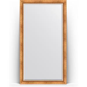 Зеркало напольное с фацетом Evoform Exclusive Floor 111x201 см, в багетной раме - римское золото 88 мм (BY 6157)