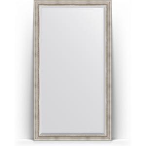 Зеркало напольное с фацетом Evoform Exclusive Floor 111x201 см, в багетной раме - римское серебро 88 мм (BY 6158) зеркало напольное с фацетом поворотное evoform exclusive floor 81x201 см в багетной раме римское серебро 88 мм by 6118