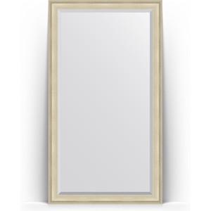 Зеркало напольное с фацетом Evoform Exclusive Floor 113x203 см, в багетной раме - травленое серебро 95 мм (BY 6163)