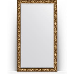 Зеркало напольное с фацетом Evoform Exclusive Floor 114x203 см, в багетной раме - византия золото 99 мм (BY 6164)