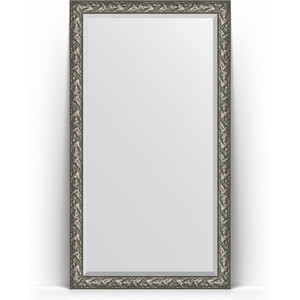 Зеркало напольное с фацетом Evoform Exclusive Floor 114x203 см, в багетной раме - византия серебро 99 мм (BY 6165)