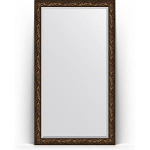 Зеркало напольное с фацетом Evoform Exclusive Floor 114x203 см, в багетной раме - византия бронза 99 мм (BY 6166)