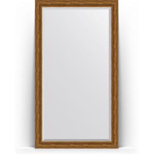 Зеркало напольное с фацетом Evoform Exclusive Floor 114x204 см, в багетной раме - травленая бронза 99 мм (BY 6169)