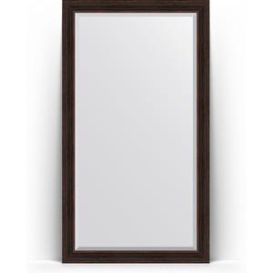 Зеркало напольное с фацетом Evoform Exclusive Floor 114x204 см, в багетной раме - темный прованс 99 мм (BY 6170)